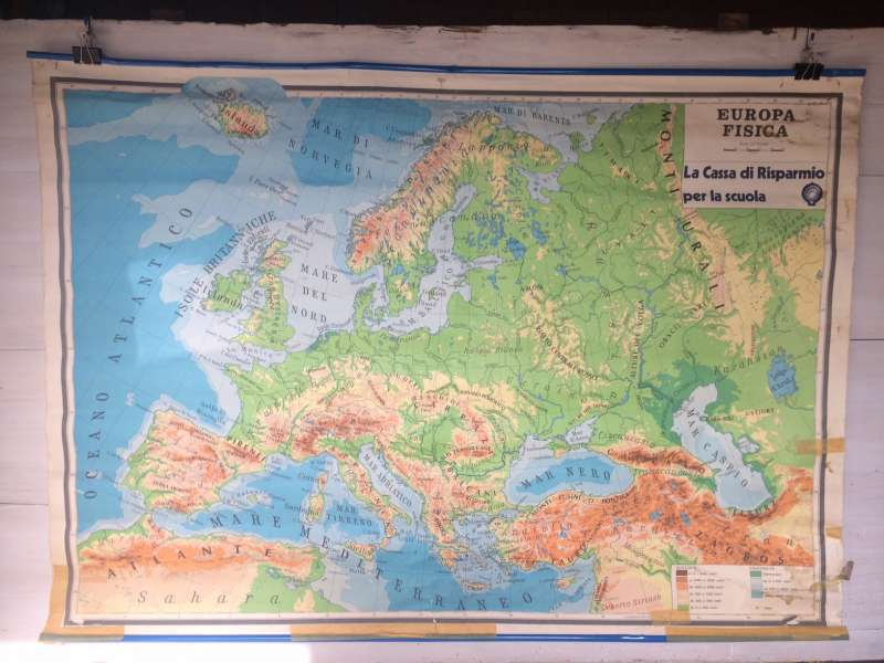 Europa Fisica Cartina Da Stampare.Cartina Geografica Europa Fisica 1980s