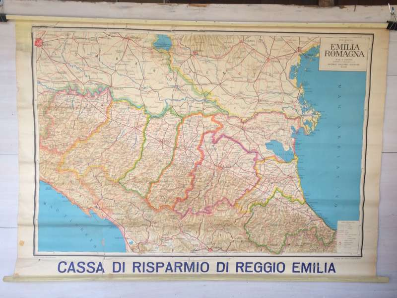 Cartina Topografica Emilia Romagna.Cartina Geografica Emilia Romagna 1980s